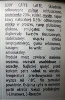 Lody caffe latte - Składniki - pl