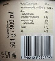 Lody chałwowe - Wartości odżywcze