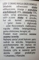 Lody o smaku masła orzechowego - Ingredients