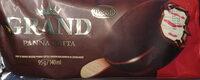 Lody o smaku deseru Panna Cotta z musem malinowym w czekoladzie - Produkt - pl