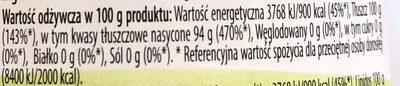Olej kokosowy - Nutrition facts - pl