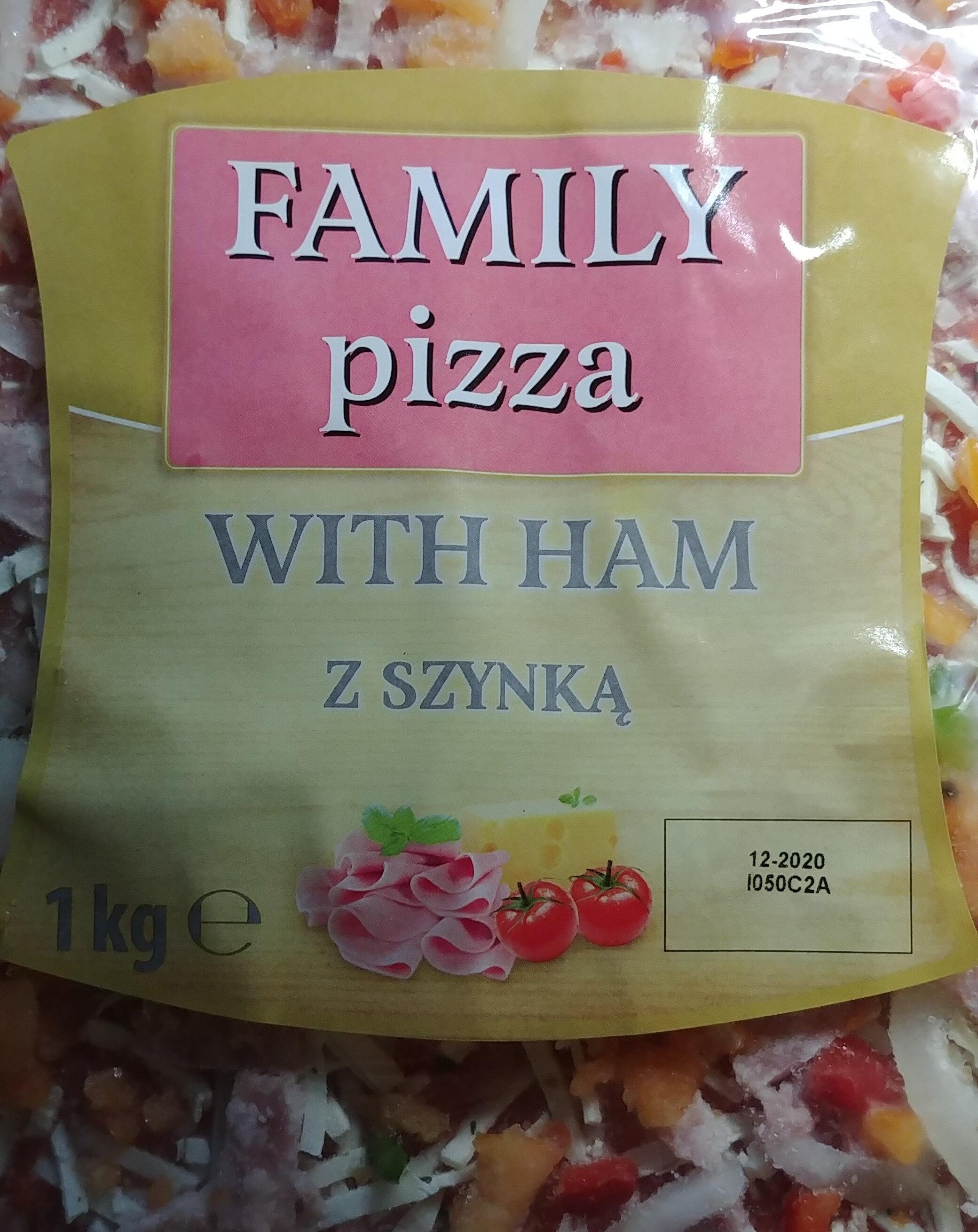 Pizza z szynką wieprzową, na podopiecznym spodzie. - Produkt - pl