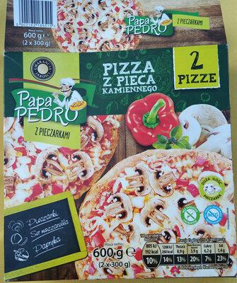 Pizza z pieca kamiennego z pieczarkami - Produkt - pl