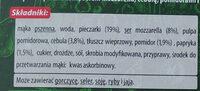 Pizza z pieca kamiennego z pieczarkami - Składniki - pl