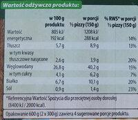 Pizza z pieca kamiennego z pieczarkami - Voedingswaarden - pl