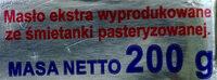 Masło ekstra Staropolskie. - Składniki - pl