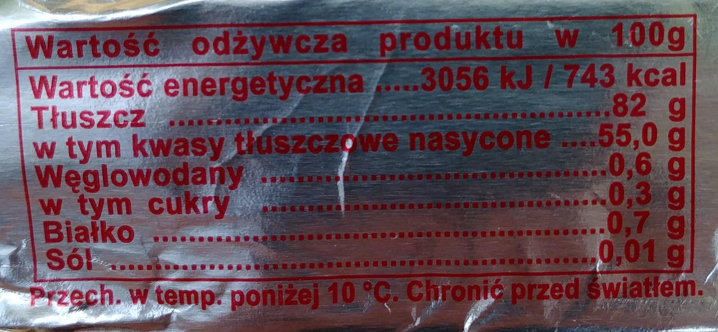 Masło ekstra Staropolskie. - Wartości odżywcze - pl