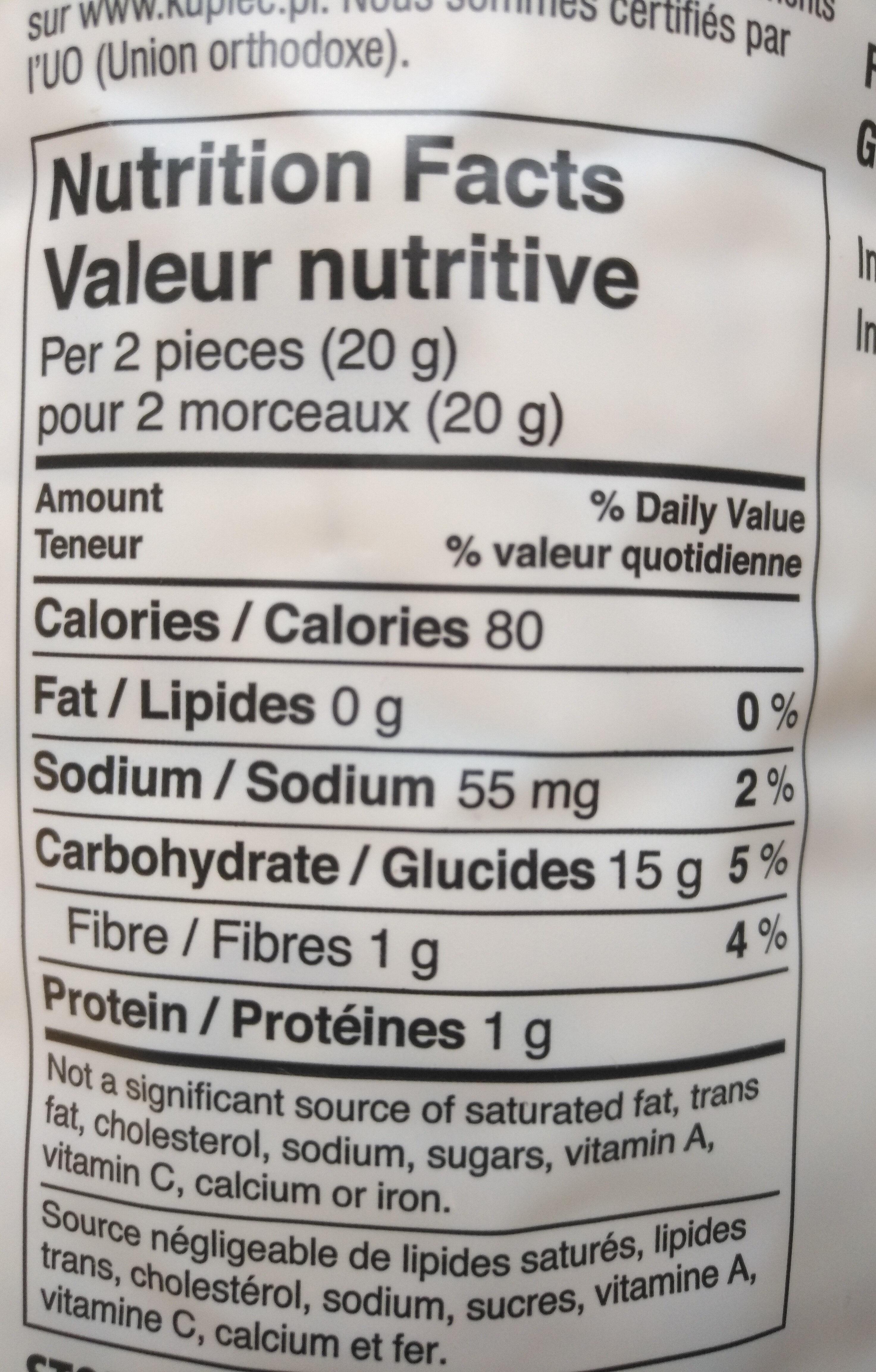 Galette de riz avec du maïs - Nutrition facts - fr