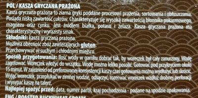 kasza gryczana prażona - Ingredients - en