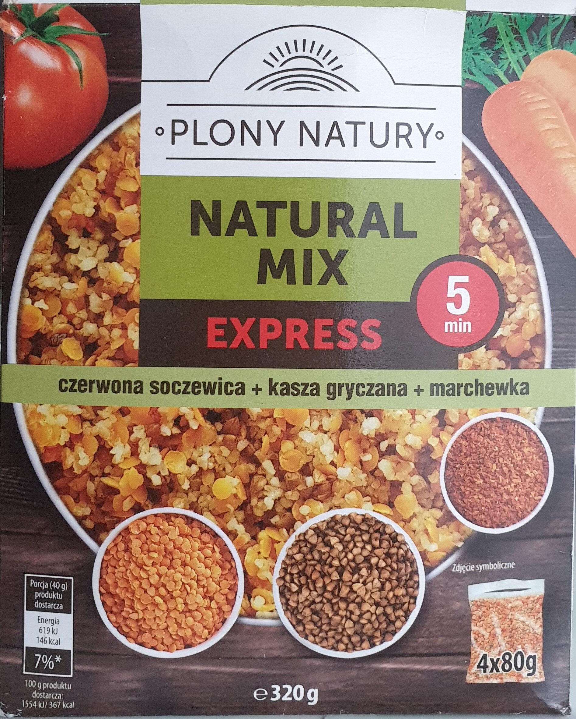 Natural Mix - Czerwona soczewica, kasza gryczana, marchewka - Product - pl