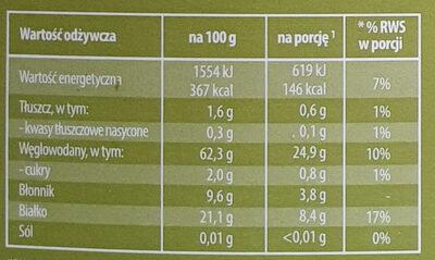 Natural Mix - Czerwona soczewica, kasza gryczana, marchewka - Nutrition facts - pl