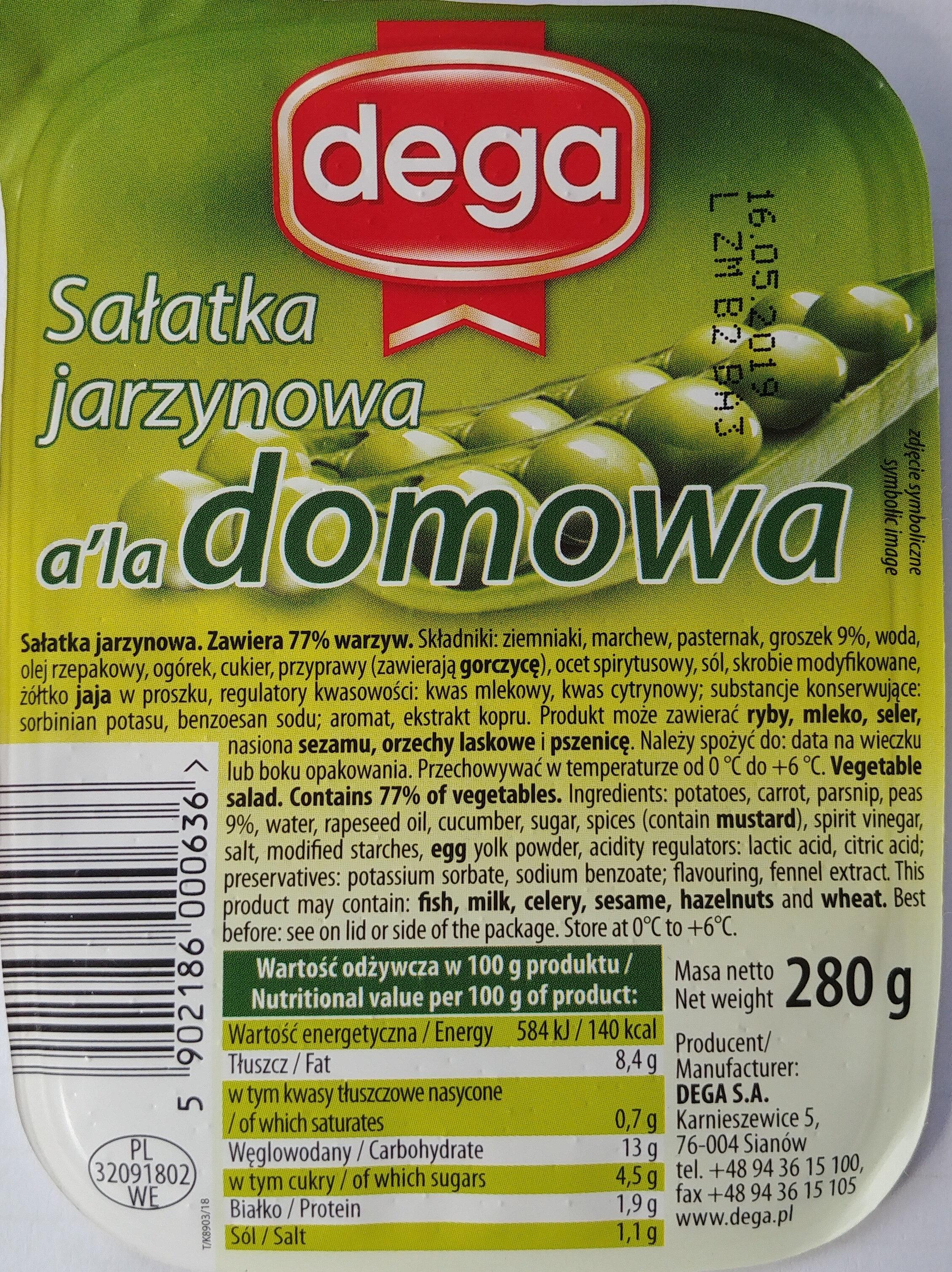 Sałatka jarzynowa a' la domowa - Produkt
