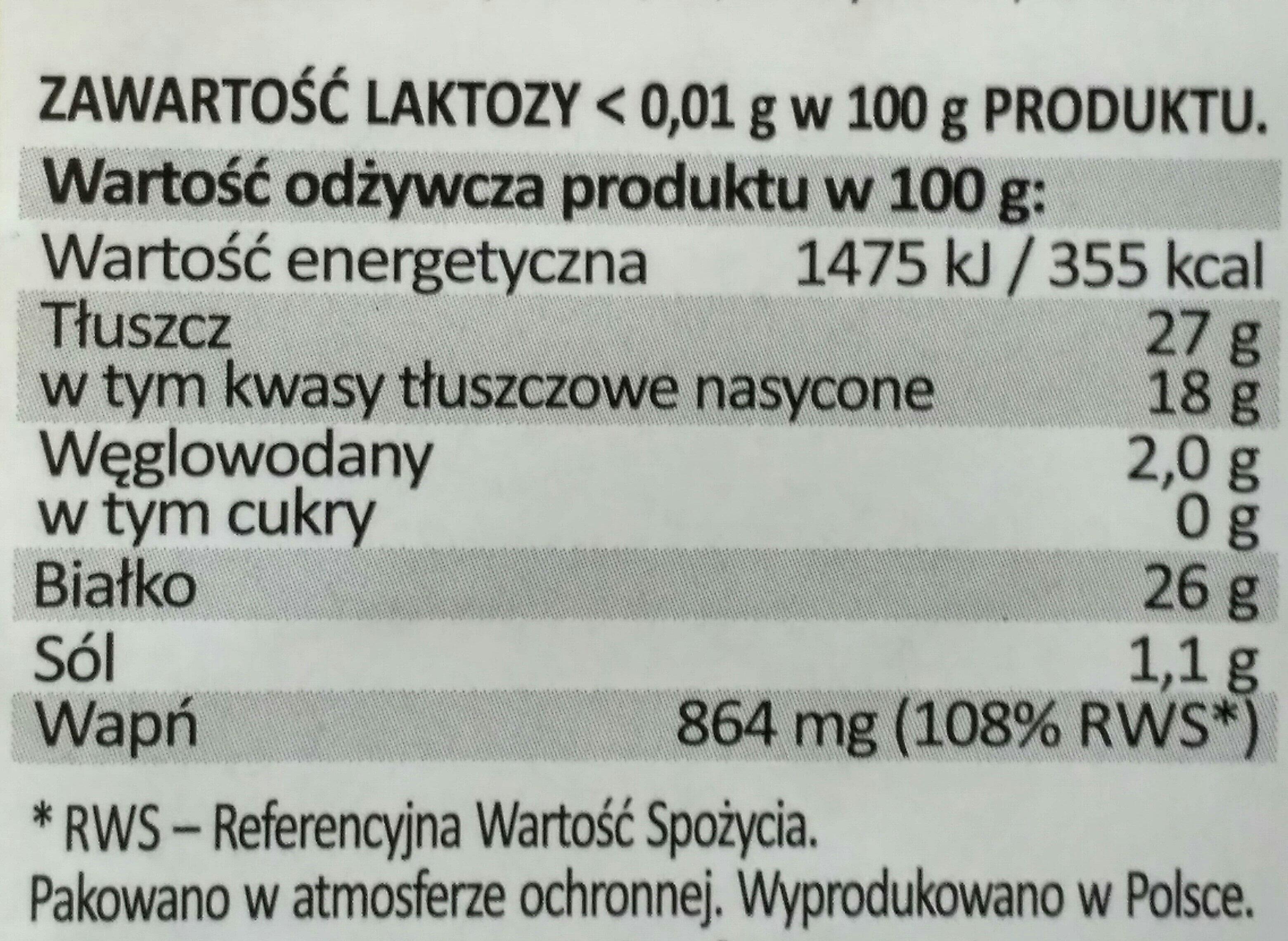 Rycki Edam - Wartości odżywcze - pl