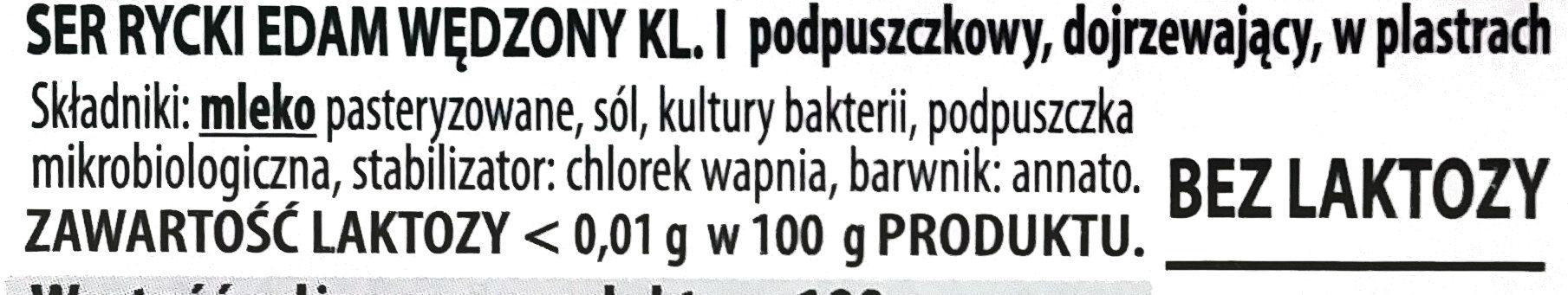 Ser Rycki Edam wędzony - Ingrediënten