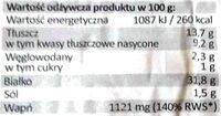 Ser Rycki Edam Light - Voedingswaarden - pl