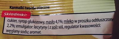 Karmelki twarde mleczne - Ingredients