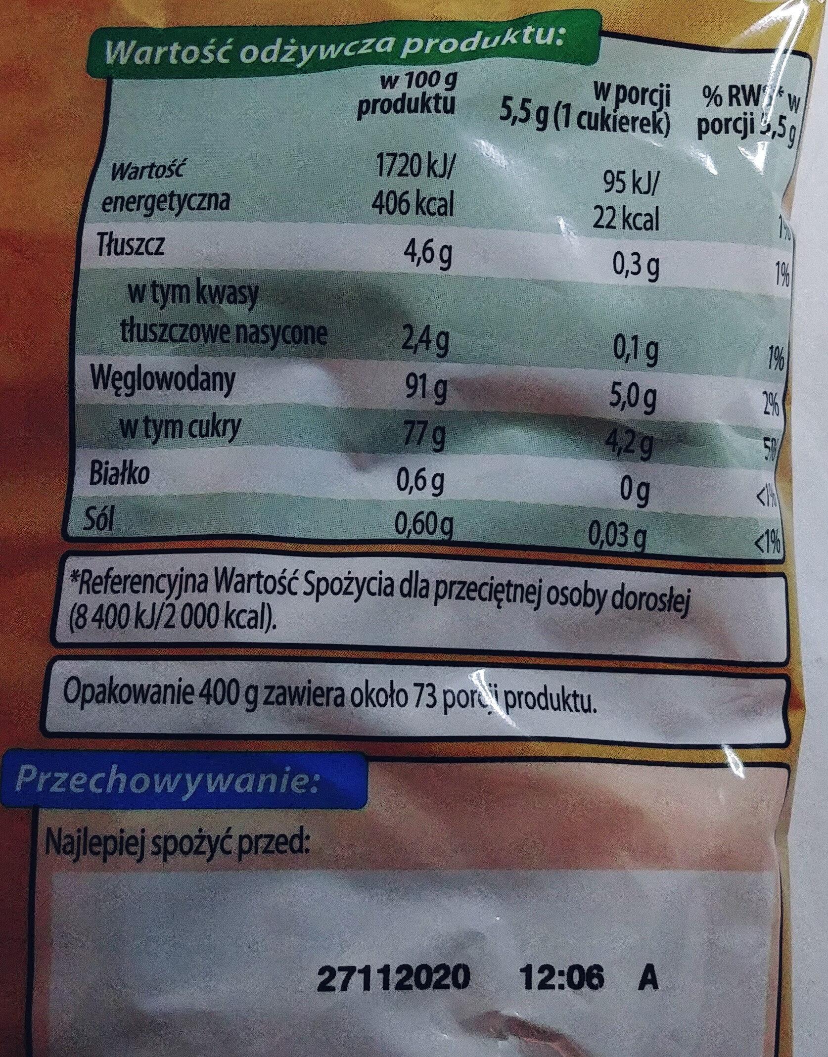 Karmelki twarde mleczne - Nutrition facts