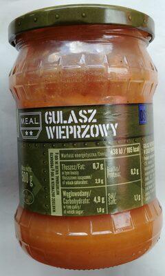 Gulasz wieprzowy z warzywami w sosie pomidorowym - 1