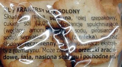 Krakersy mix solony - Składniki - pl