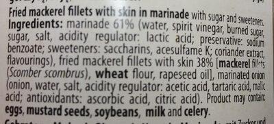 Filety z makreli smażone w zalewie octowej - Ingredients