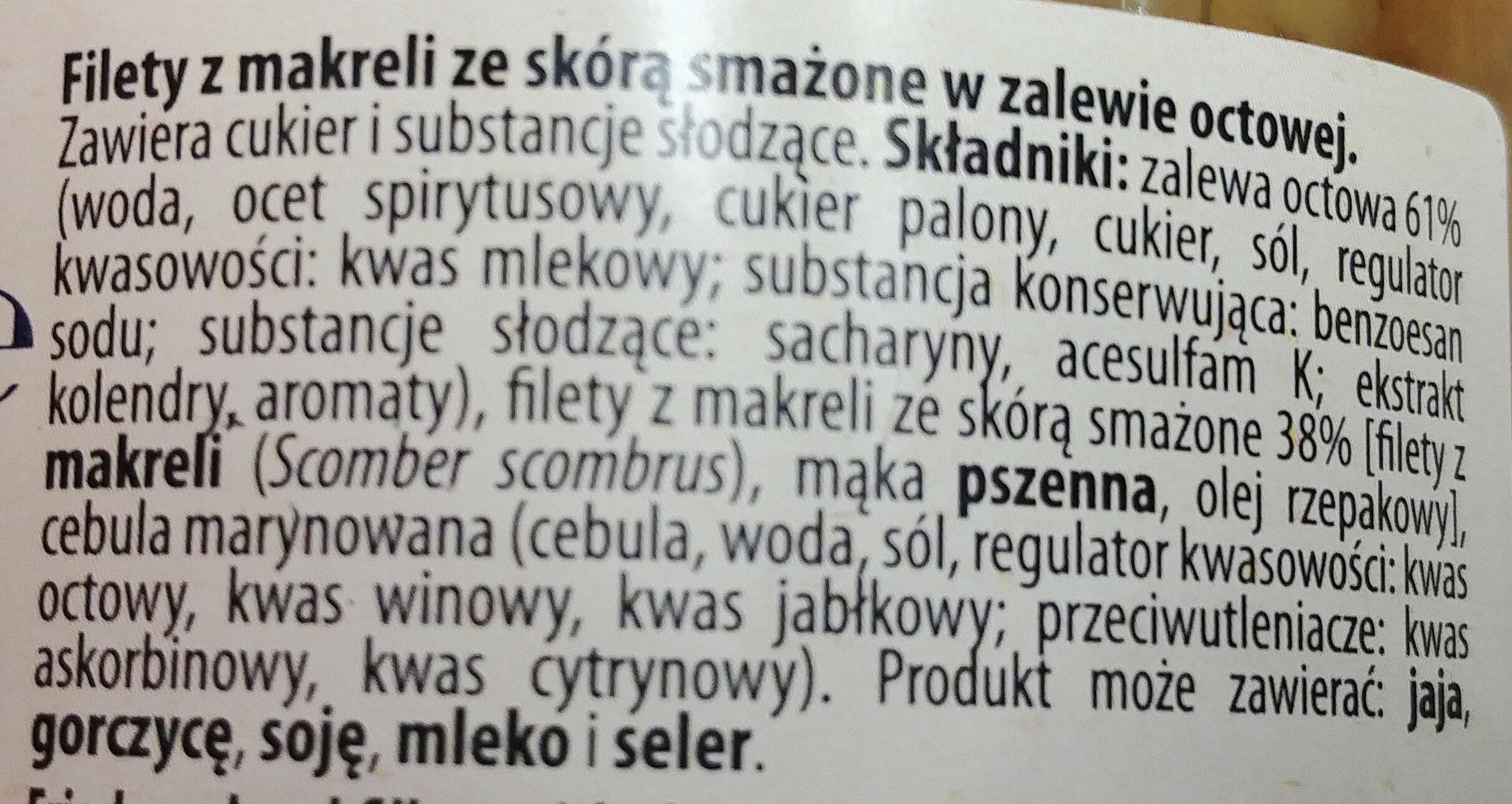 Filety z makreli smażone w zalewie octowej - Składniki - pl