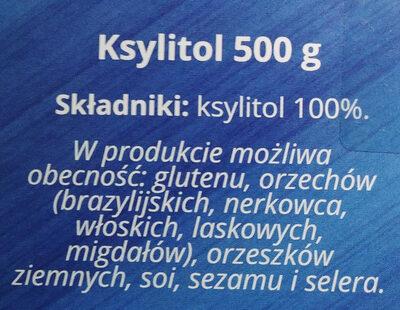 Ksylitol cukier z brzozy - Składniki - pl
