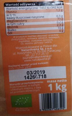 Mąka pszenna typ 500 ekologiczna - Wartości odżywcze