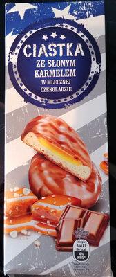 Ciasteczka ze słonym karmelem w mlecznej czekoladzie - Produkt - pl