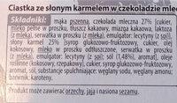 Ciasteczka ze słonym karmelem w mlecznej czekoladzie - Składniki - pl