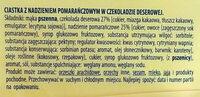 Ciasteczka z nadzieniem pomarańczowym w czekoladzie deserowej. - Składniki - pl