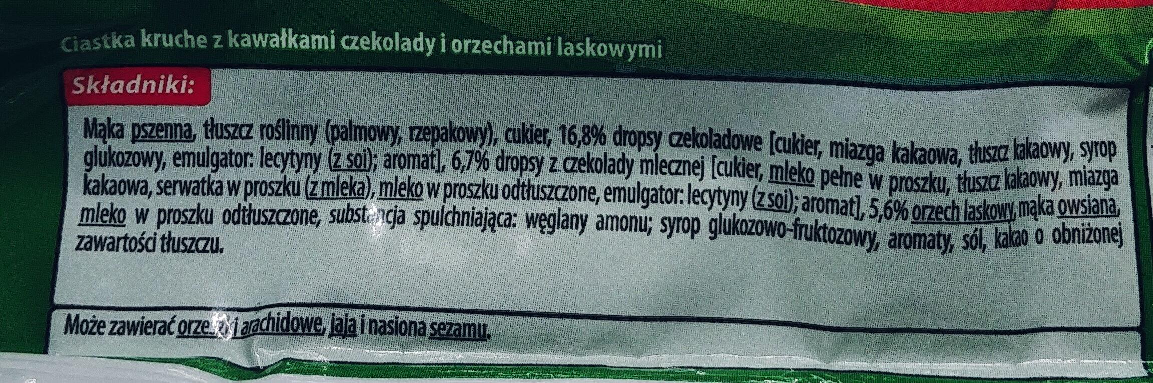 Original Cookies Chocolate Chip With Hazelnut - Składniki - pl