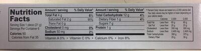 Brownie cookies - Informations nutritionnelles - en