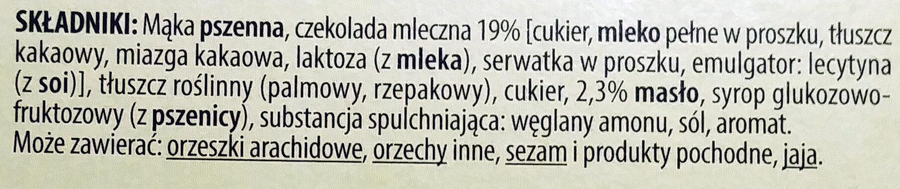 Harnasie maślane w czekoladzie - Ingrédients - pl
