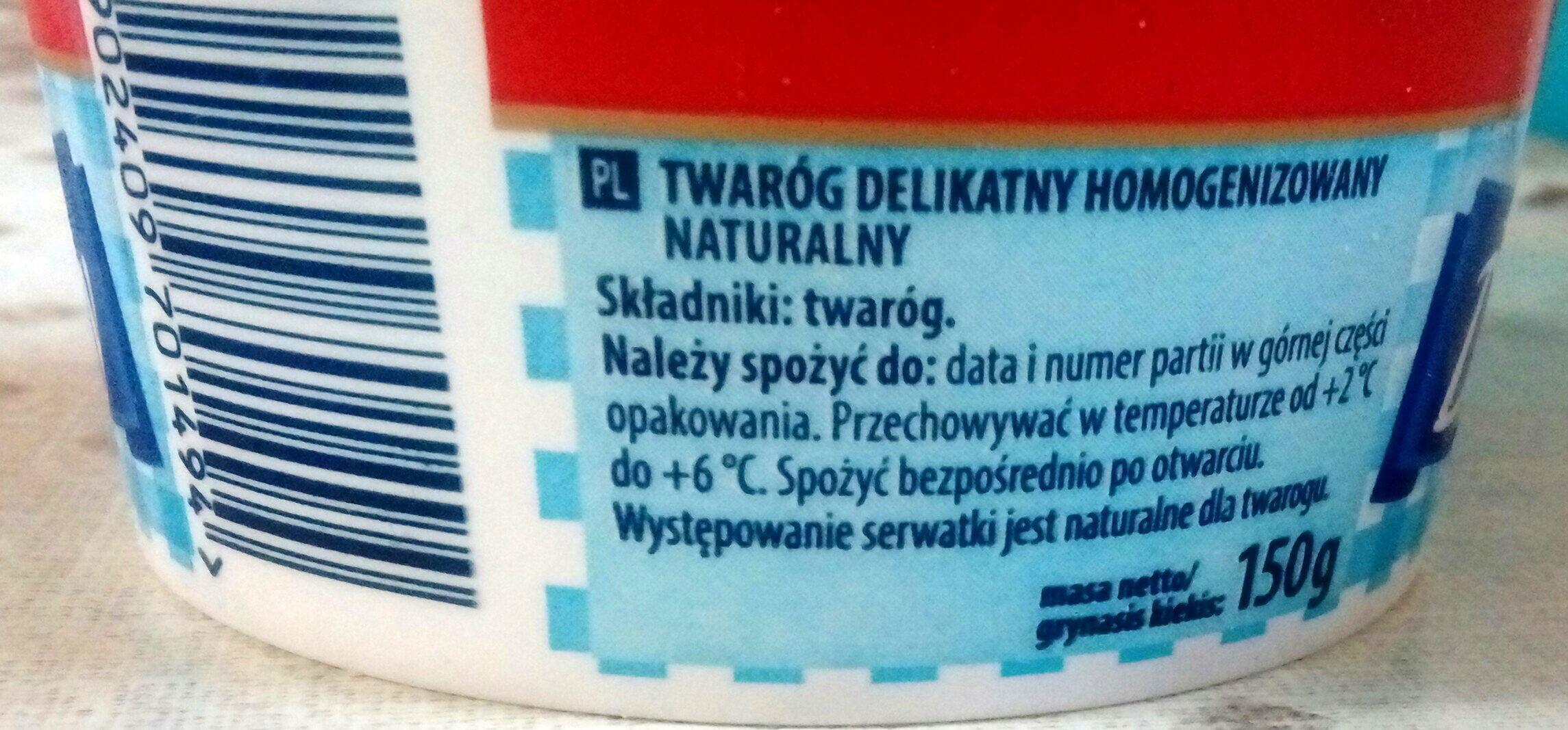 Twaróg delikatny naturalny - Ingrediënten