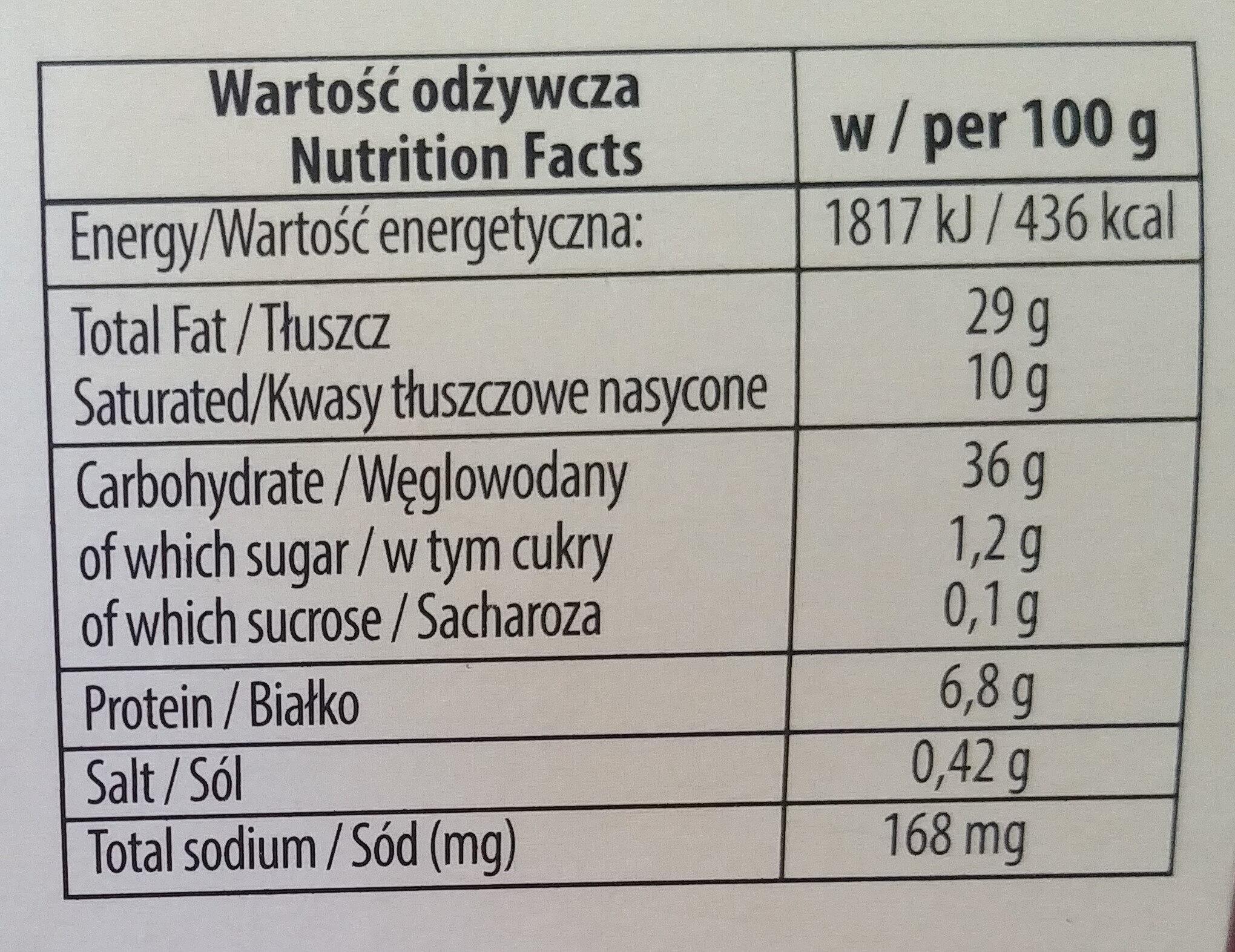 Kruche ciasteczka z orzechami bez dodatku cukru - Wartości odżywcze - pl