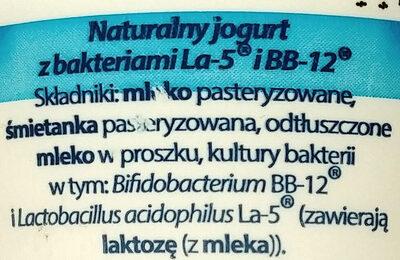Jogurt naturalny - Ingredients - pl