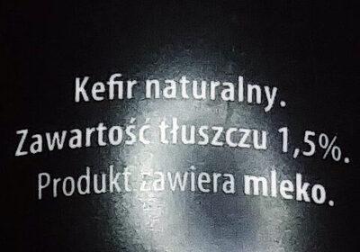 Kefir naturalny 1,5% tłuszczu - Składniki