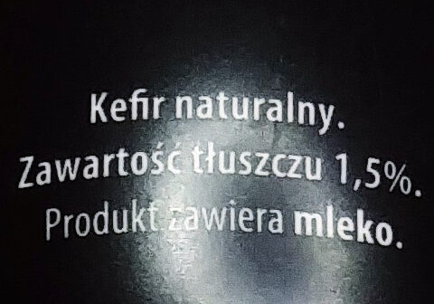 Kefir naturalny 1,5% tłuszczu - Ingredients - pl