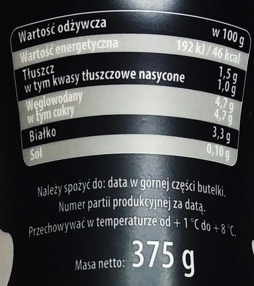 Kefir naturalny 1,5% tłuszczu - Wartości odżywcze
