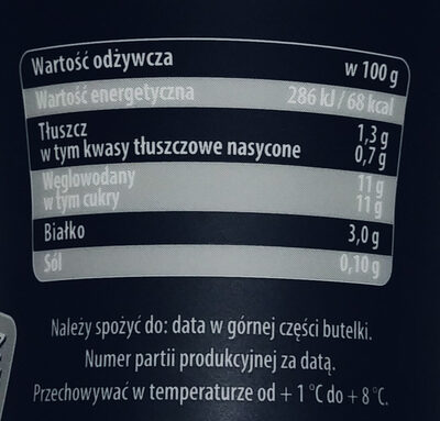 Kefir brzoskwiniowy - Nutrition facts