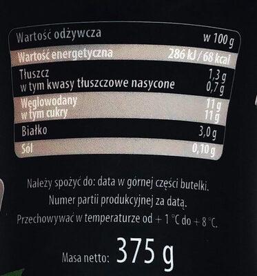 Kefir truskawkowy - Nutrition facts - pl