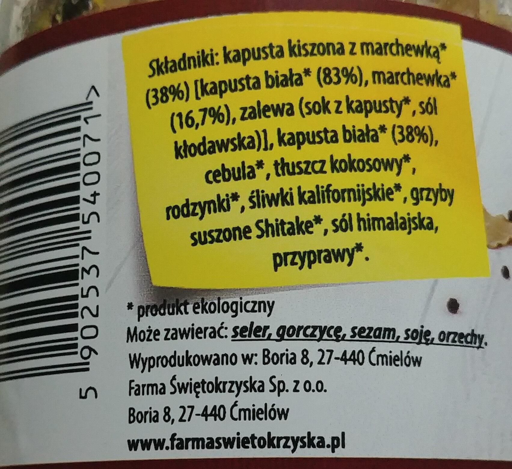 Bio bigos wegański - Ingredients - pl