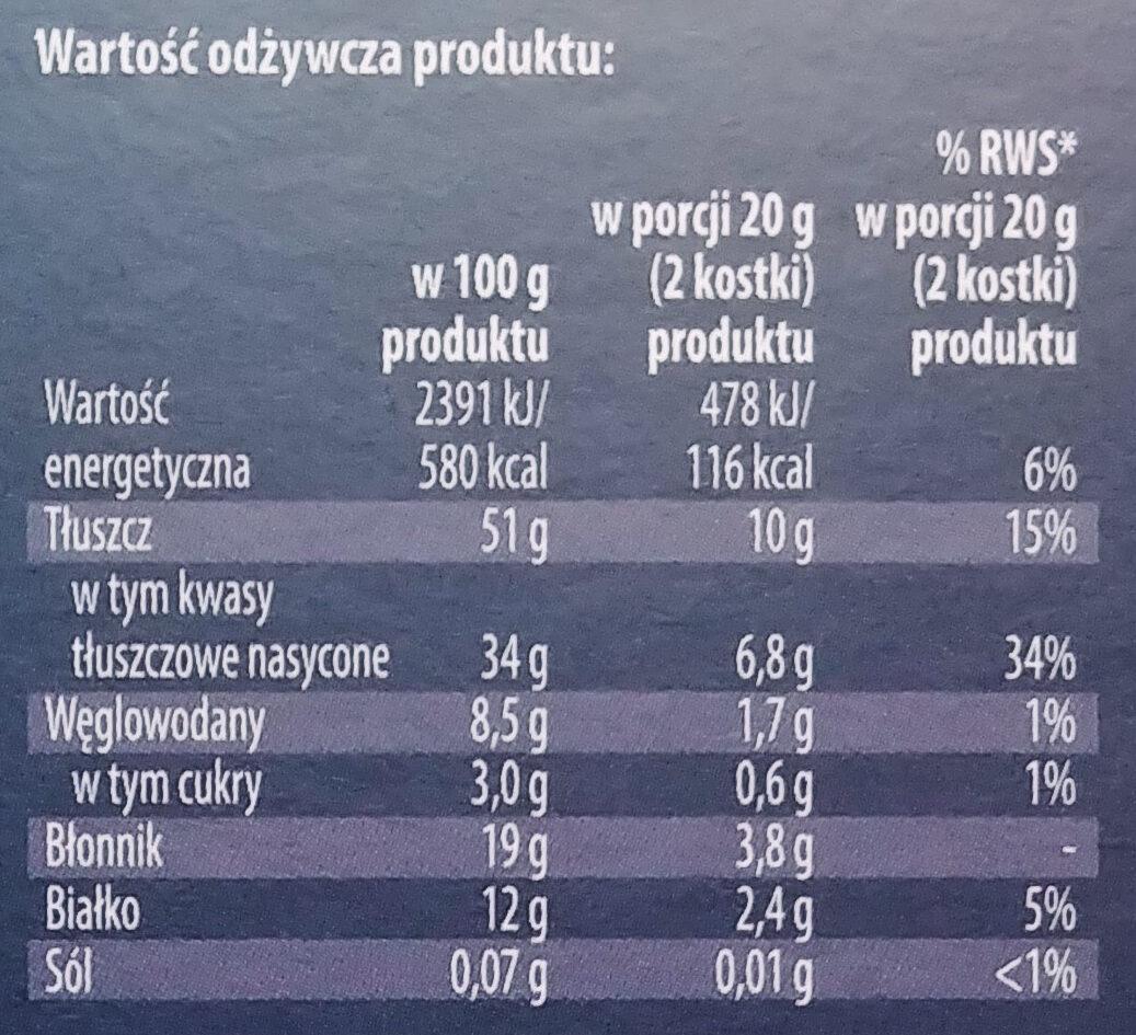 Czekolada gorzka 95% kakao - Nutrition facts - pl