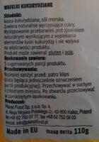 Wafelki kukurydziane - Składniki