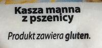 Kasza manna - Składniki