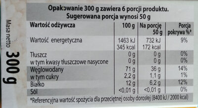 Lestello couscous - Wartości odżywcze - pl