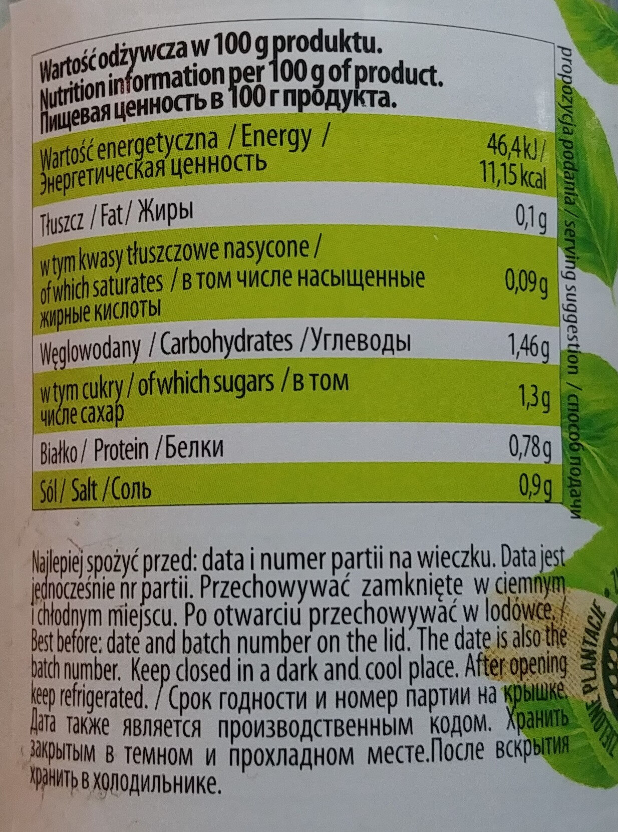 Szparagi białe - Wartości odżywcze - pl