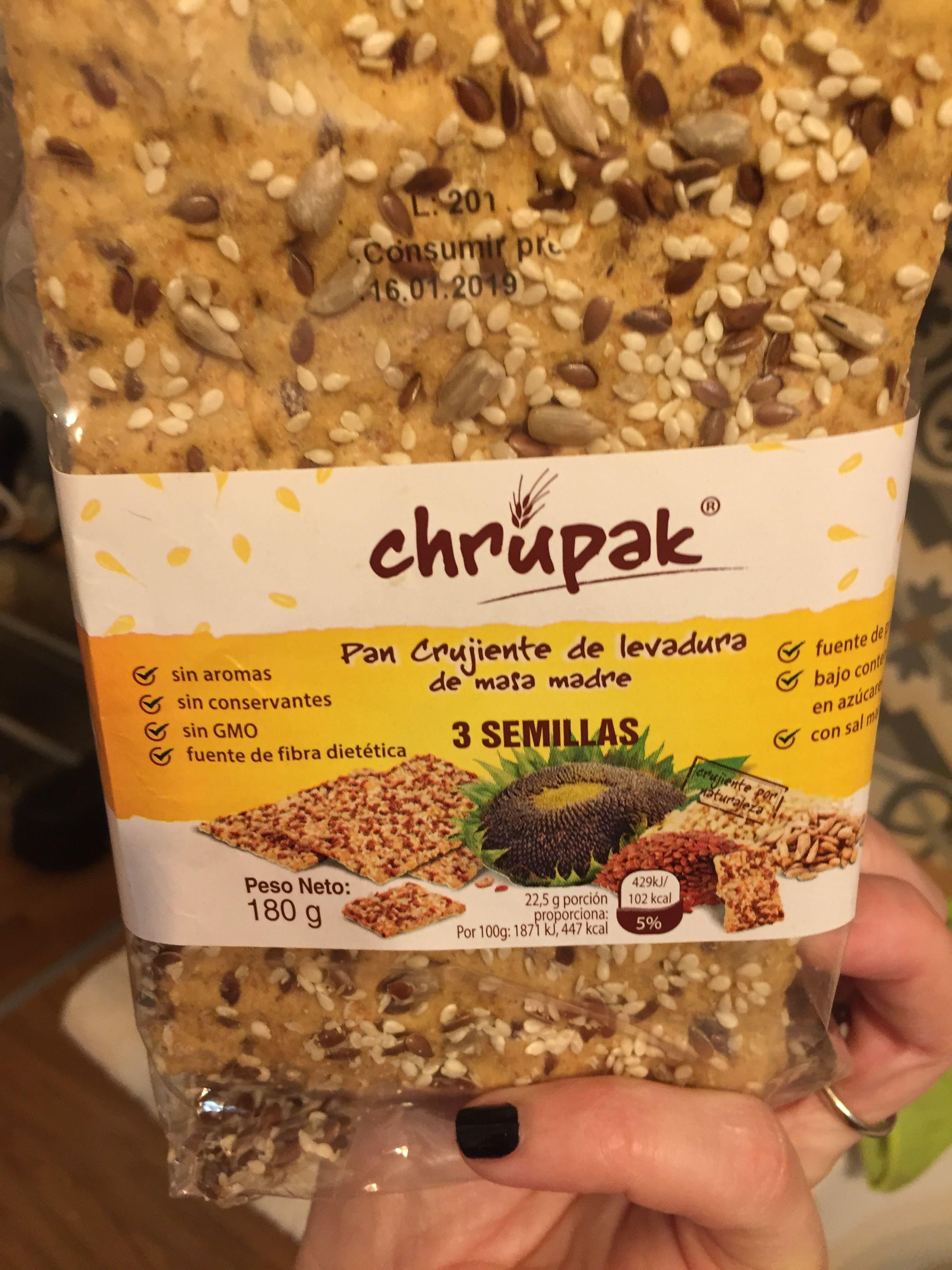 Pan crujiente con 3 semillas - Producte - es