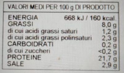Salmone norvegese affumicato secondo tradizione - Informazioni nutrizionali - it