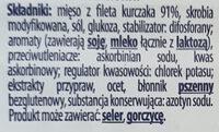 Szynka z fileta kurczaka - Ingrédients - pl